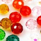 Crystal beads - Faceted Discs 10mm